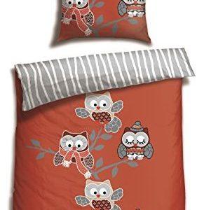 Hübsche Bettwäsche aus Renforcé - rot 135x200 von Schiesser