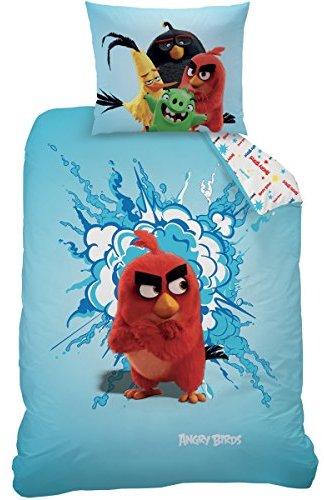 Hübsche Bettwäsche aus Renforcé - rot 140x200 von Angry Birds