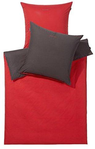Hübsche Bettwäsche aus Renforcé - rot 155x220 von Schiesser