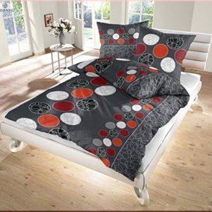 Hübsche Bettwäsche aus Renforcé - rot 155x220 von Soma