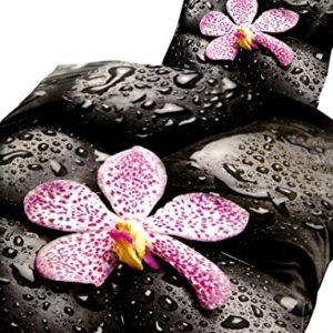 Schöne Bettwäsche aus Renforcé - schwarz 135x200 von Bertels