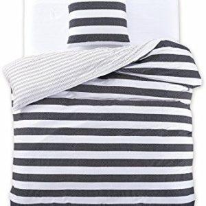 Hübsche Bettwäsche aus Renforcé - schwarz 135x200 von DecoKing