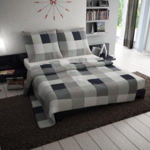 Hübsche Bettwäsche aus Renforcé - schwarz 135x200 von Etérea