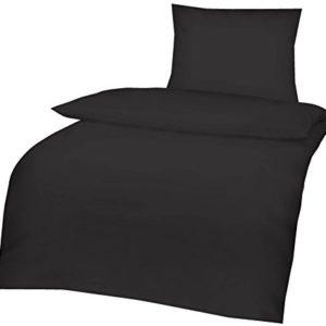 Traumhafte Bettwäsche aus Renforcé - schwarz 135x200