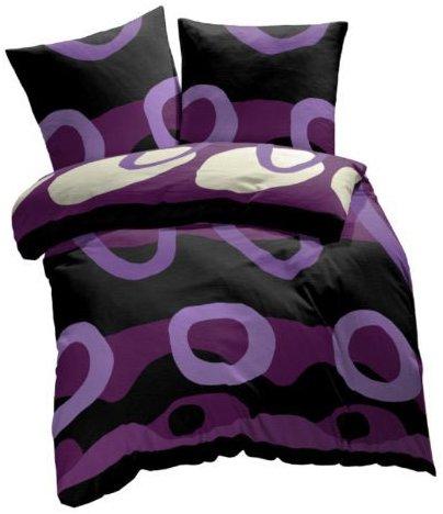 kuschelige bettw sche aus renforc schwarz 155x220 von et rea bettw sche. Black Bedroom Furniture Sets. Home Design Ideas