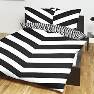 Schöne Bettwäsche aus Renforcé - schwarz 155x220 von Primera