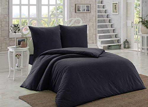 h bsche bettw sche aus renforc schwarz 200x220 von elit. Black Bedroom Furniture Sets. Home Design Ideas
