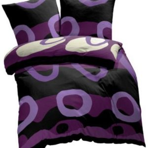 Hübsche Bettwäsche aus Renforcé - schwarz 200x220 von Etérea