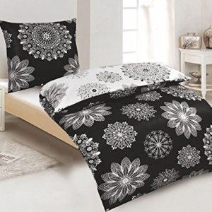 Kuschelige Bettwäsche aus Renforcé - schwarz weiß 135x200 von daspasstgut