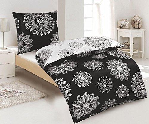 kuschelige bettw sche aus renforc schwarz wei 135x200. Black Bedroom Furniture Sets. Home Design Ideas