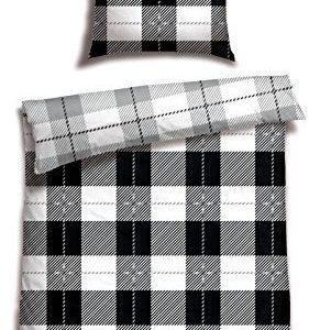 Traumhafte Bettwäsche aus Renforcé - schwarz weiß 135x200 von Schiesser