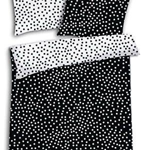 Hübsche Bettwäsche aus Renforcé - schwarz weiß 135x200 von Schiesser