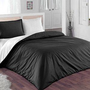 Kuschelige Bettwäsche aus Renforcé - schwarz weiß 200x200 von GH Homeshop