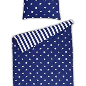 Traumhafte Bettwäsche aus Renforcé - Sterne blau 135x200 von Schiesser