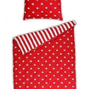 Schöne Bettwäsche aus Renforcé - Sterne rot 135x200 von Schiesser