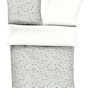 Traumhafte Bettwäsche aus Renforcé - Sterne weiß 135x200 von s.Oliver