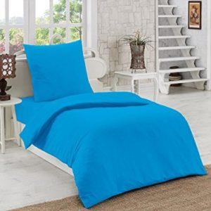 Traumhafte Bettwäsche aus Renforcé - türkis 135x200 von Elit Home Collection