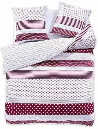 Hübsche Bettwäsche aus Renforcé - weiß 200x220 von DecoKing
