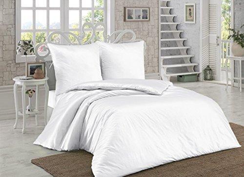kuschelige bettw sche aus renforc wei 200x220 von elit. Black Bedroom Furniture Sets. Home Design Ideas