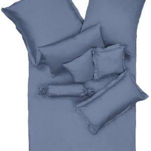 Kuschelige Bettwäsche aus Satin - blau 135x200 von Erwin Müller