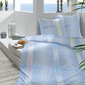 Traumhafte Bettwäsche aus Satin - blau 135x200 von Estella