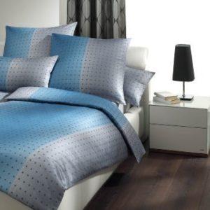 Schöne Bettwäsche aus Satin - blau 135x200 von Joop!