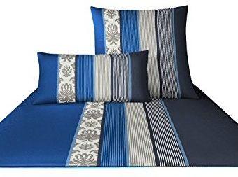 Kuschelige Bettwäsche aus Satin - blau 135x200 von Joop