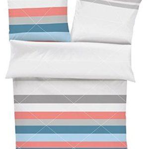 Schöne Bettwäsche aus Satin - blau 135x200 von s.Oliver