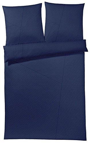 Traumhafte Bettwäsche aus Satin - blau 140x200 von Joop