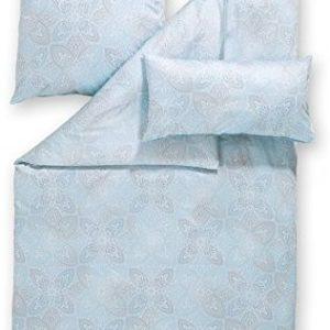 Hübsche Bettwäsche aus Satin - blau 155x220 von Estella