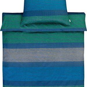 Traumhafte Bettwäsche aus Satin - blau 155x220 von Estella Ateliers