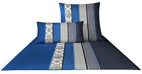 Kuschelige Bettwäsche aus Satin - blau 155x220 von Joop