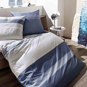 Hübsche Bettwäsche aus Satin - blau 155x220 von Kaeppel