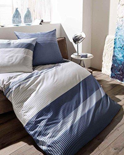 h bsche bettw sche aus satin blau 155x220 von kaeppel bettw sche. Black Bedroom Furniture Sets. Home Design Ideas