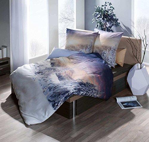 traumhafte bettw sche aus satin blau 155x220 von kaeppel. Black Bedroom Furniture Sets. Home Design Ideas