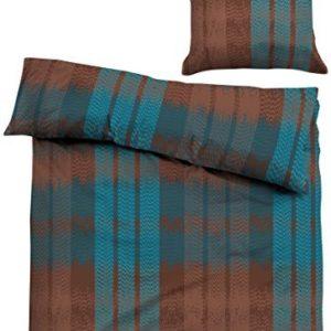 Traumhafte Bettwäsche aus Satin - blau 155x220 von TOM TAILOR