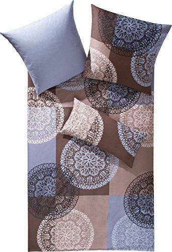 traumhafte bettw sche aus satin braun 135x200 von erwin. Black Bedroom Furniture Sets. Home Design Ideas