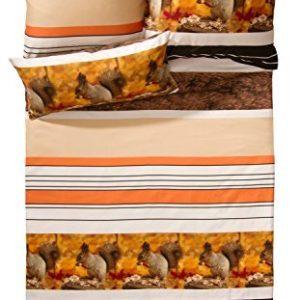 Kuschelige Bettwäsche aus Satin - braun 135x200 von Erwin Müller
