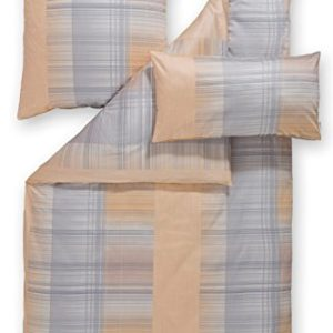 Kuschelige Bettwäsche aus Satin - braun 135x200 von Estella