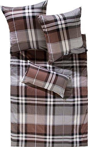 Kuschelige Bettwäsche aus Satin - braun 155x220 von Erwin Müller