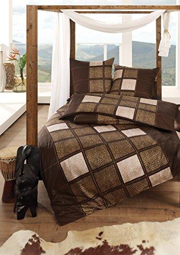 sch ne bettw sche aus satin braun 155x220 von estella bettw sche. Black Bedroom Furniture Sets. Home Design Ideas