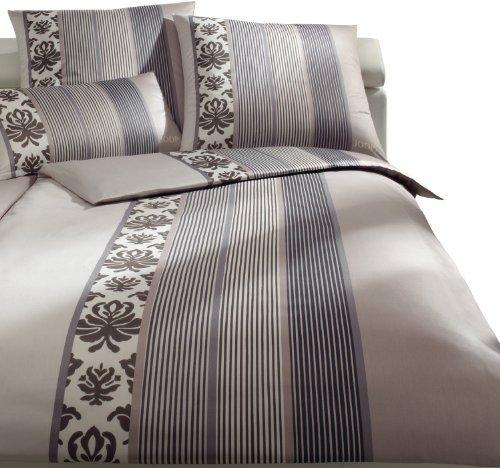 Hübsche Bettwäsche aus Satin - braun 155x220 von Joop!
