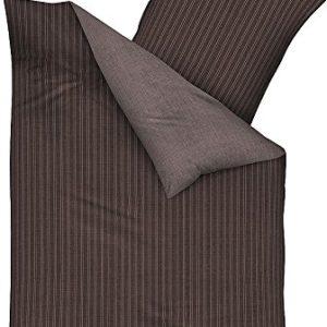 Schöne Bettwäsche aus Satin - braun 155x220 von Kaeppel