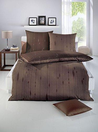 h bsche bettw sche aus satin braun 155x220 von kaeppel bettw sche. Black Bedroom Furniture Sets. Home Design Ideas
