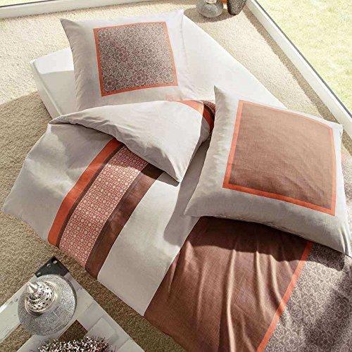 Traumhafte Bettwäsche aus Satin - braun 200x200 von Kaeppel