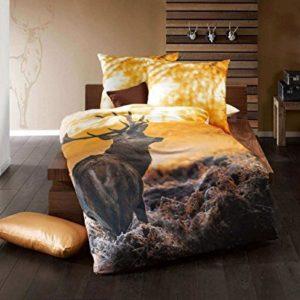 Traumhafte Bettwäsche aus Satin - gelb 135x200 von Kaeppel