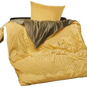Kuschelige Bettwäsche aus Satin - gelb 155x200 von Erwin Müller