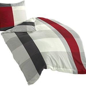 Hübsche Bettwäsche aus Satin - grau 135x200 von Bierbaum