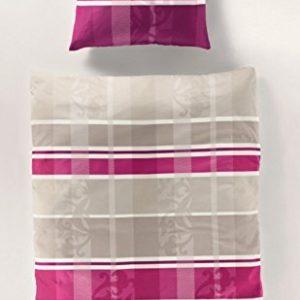 Kuschelige Bettwäsche aus Satin - grau 135x200 von Bierbaum