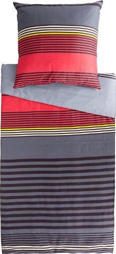 Kuschelige Bettwäsche aus Satin - grau 135x200 von Erwin Müller
